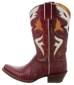 Frye Embossed Cowboy Boots