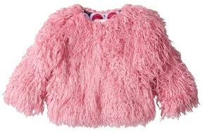 Hatley Pink Faux Mongolian Fur Coat Girl's Coat