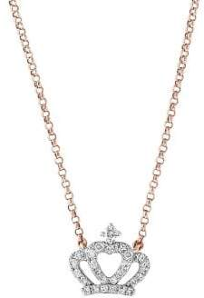 Effy Pave Rose Diamond and 14K Rose Gold Pendant Necklace