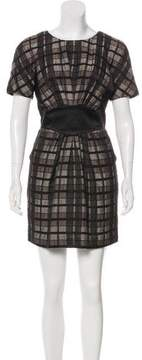 Antonio Marras Checker Pattern Mini Dress