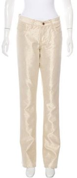 Ralph Lauren Metallic Straight-Leg Jeans w/ Tags
