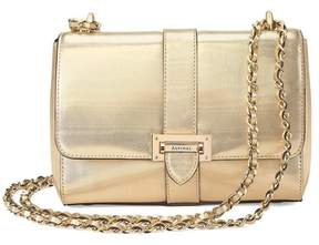 Aspinal of London | Small Lottie Bag In Gold Moire Print | Gold moire print