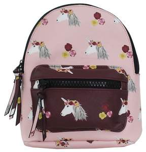 T-Shirt & Jeans Unicorn Print Dome Small Backpack