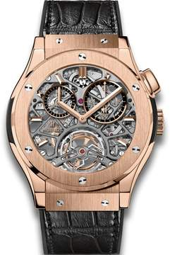 Hublot Tourbillon Skeleton King Gold 18 Carat King Gold Men's Watch