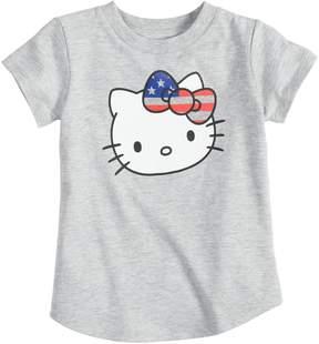 Hello Kitty Toddler Girl Jumping Beans Patriotic Graphic Tee