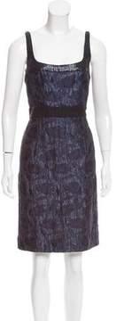 Carmen Marc Valvo Sequin Embellished Jacquard Dress