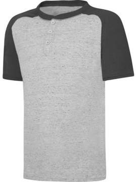 Hanes X-Temp Boys' Short Sleeve Raglan Henley T-Shirt