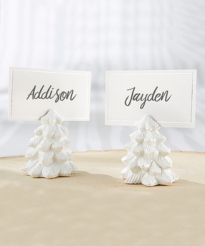 White Pine Tree Place Card Holders - Set of 12