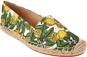 C. Wonder Lemon Print Canvas Slip-On Espadrilles - Lucy