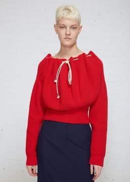 Calvin Klein Ruched Collar Sweater