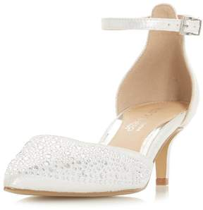 Head Over Heels *Head Over Heels By Dune Silver 'Caitlin' Heeled Shoes