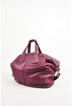 Givenchy Pre-owned Magenta Leather Gold Tone Zip medium Nightingale Bag.