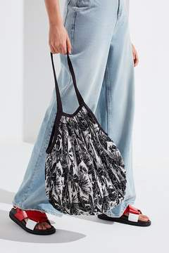 Urban Outfitters Printed Plisse Pleated Shopper Tote Bag