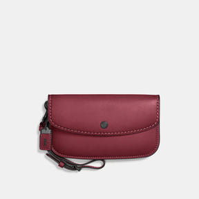 COACH Coach Clutch - BLACK COPPER/BORDEAUX - STYLE