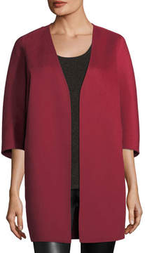Neiman Marcus Luxury Double-Faced Cashmere Cocoon Coat