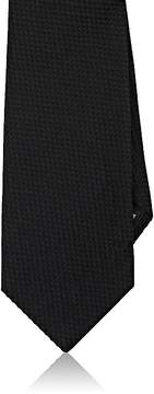 Giorgio Armani Men's Basket-Weave Silk-Cotton Necktie