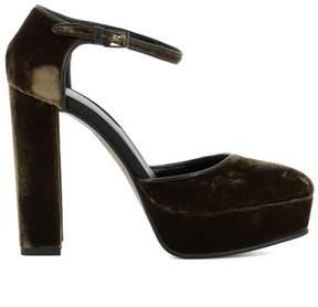 Etro Women's Brown Velvet Heels.