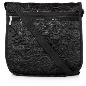 Le Sport Sac Rebecca Large Floral-Embossed Hobo Messenger Bag