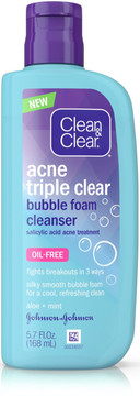 Clean & Clear Triple Cleanse Bubble Foam Cleanser