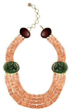 Bounkit Multi Strand Coral Necklace