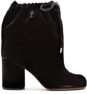 Maison Margiela Tabi split-toe velvet ankle boots