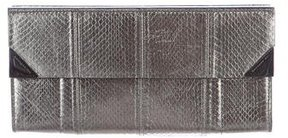 Barbara Bui Embossed Leather Clutch