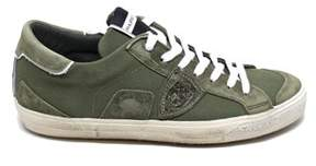 Philippe Model Men's Green Leather Sneakers.