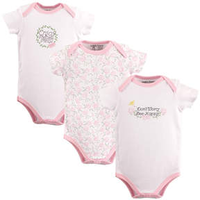 Luvable Friends Pink 'Enjoy the Little Things' Bodysuit Set - Infant