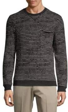 ATM Anthony Thomas Melillo Broken-Striped Sweatshirt