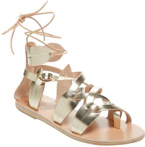 Ancient Greek Sandals Women's Filareskia Metallic Leather & Leather Sandal