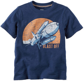 Carter's Baby Boy Short Sleeve Blast Off Rocket Ship Graphic Tee
