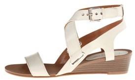 Enzo Angiolini Womens Zabariz Leather Open Toe Casual Wedged Sandals.