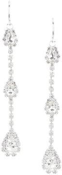 Cezanne Rhinestone Triple-Drop Statement Earrings