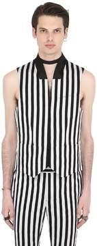 John Varvatos Striped Cotton Vest