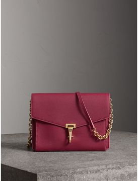 Burberry Small Grainy Leather Crossbody Bag - BERRY PINK - STYLE