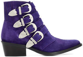 Toga Pulla cowgirl buckled boots