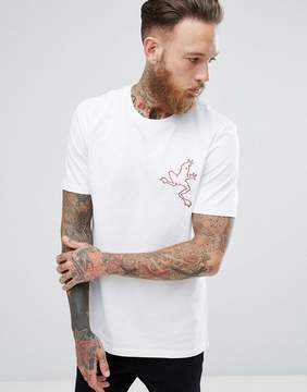 MANGO Man T-Shirt With Embroidery In Red