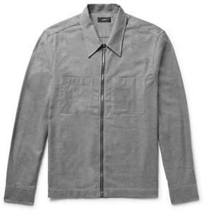 Joseph Cotton-Flannel Zip-Up Overshirt