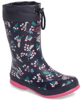 Joules Girl's Winter Print Waterproof Rain Boot