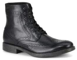 Andrew Marc Baycliff Leather Wing-Tip Combat Boots
