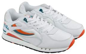 Fila Overpass White Red Orange Mens Athletic Running Shoes