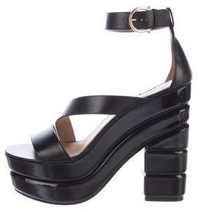 Salvatore Ferragamo Leather Platform Sandals