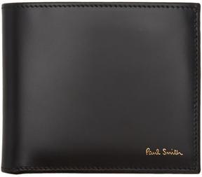 Paul Smith Black Classic Multistripe Bifold Wallet