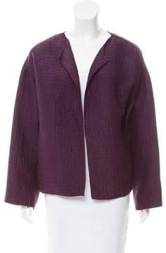Dusan Open Front Silk Jacket