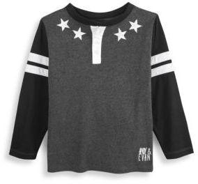 Andy & Evan Little Boy's Patch Star Top
