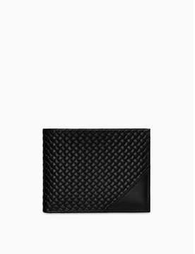 Calvin Klein woven leather passcase wallet