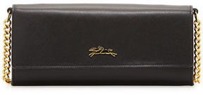 Longchamp Honoré 404 Leather Chain Wallet - BLACK - STYLE