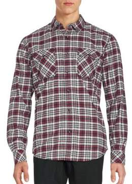 James Campbell Long Sleeve Plaid Button-Down Shirt