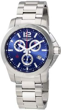 Longines Conquest Blue Dial Men's Chronograph Watch