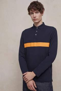 French Connection Parched Pique Cotton Stripe Polo Shirt